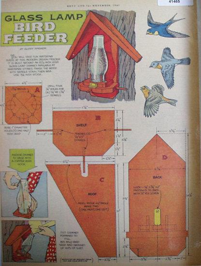 Bird Feeder by Glenn Wagner 1961 Article