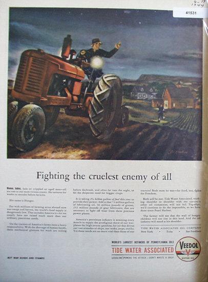 Veedol Motor Oil 1944 Ad
