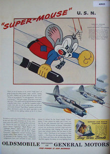 Oldsmobile Navy Bombing Squadron 1944 Ad