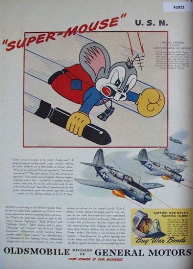 Oldsmobile Navy Bombing Squadron 1944 Ad