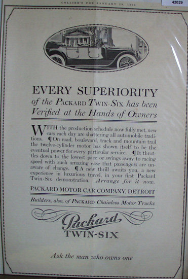 Packard Motor Car Co. 1916 Ad
