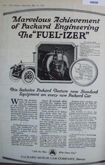 Packard Motor Car Co. 1920 Ad
