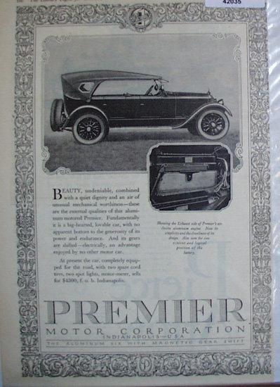 Premier Motor Corporation 1920 Ad