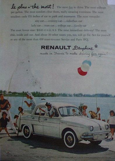 Renault Dauphine 1958 Car Ad
