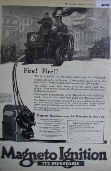 Magneto Manufacturers 1920 Ad