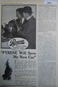 Pyrene Manufacturing Co. 1920 Ad