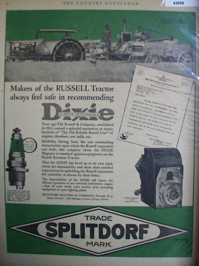 Splitdorf Electrical Co. 1920 Ad