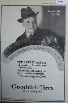 Goodrich Tires 1920 Ad.