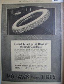 Mohawk Tires 1920 Ad