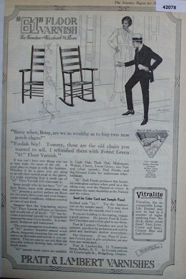Pratt and Lambert Varnishes 1920 Ad