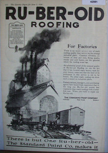 Ruberoid Roofing For Factories 1920 Ad