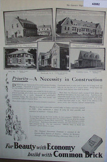 Common Brick Industry Of America 1920 Ad