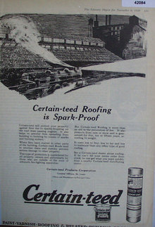 Certain Teed Products Corporation 1920 Ad