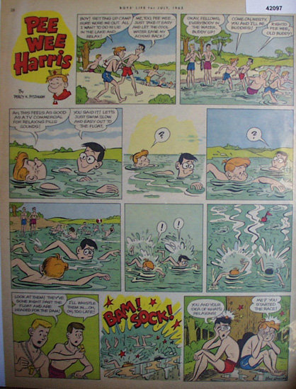 Pee Wee Harris 1962 Comic Page