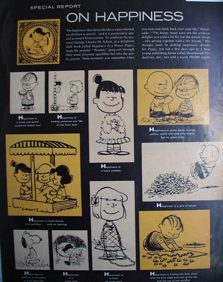 Special Report On Happiness 1962 article and Cartoon