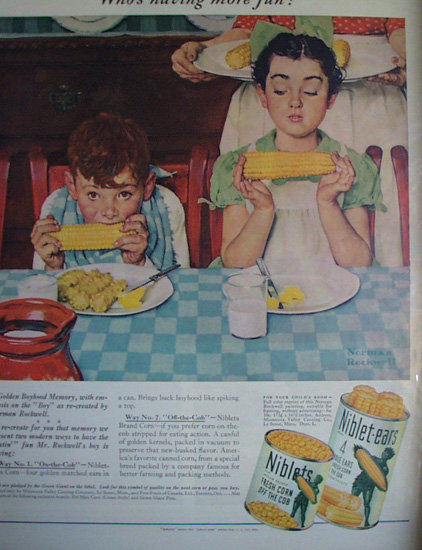 Niblets And Niblet Ears Corn 1940 AD