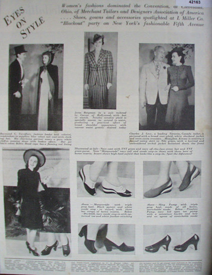 I. Miller Co. Eyes On Style 1940 Ad.