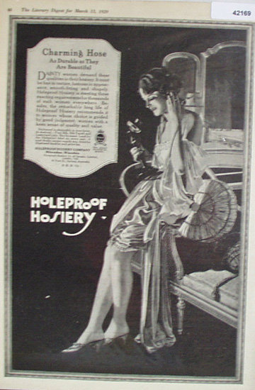 Holeproof Hosiery Co. 1920 Ad