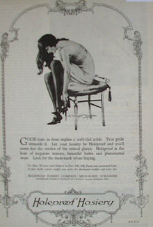Holeproof Hosiery Co. 1920 Ad
