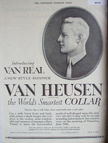 Van Heusen Shirt Collar 1922 Ad