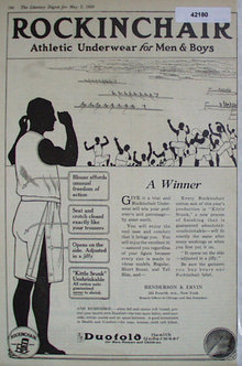 Rockingchair Athletic Underwear 1920 Ad