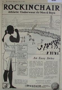 Rockingchair Athletic Underwear 1920 Ad