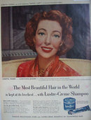 Lustre Crème Shampoo 1952 Ad.