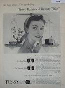 Tussy Cosmetics 1952 Ad