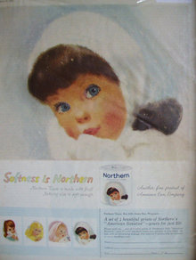 Northern Tissue  1960 Ad