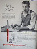 Sheaffers Cartridge Fountain Pen 1960 Ad