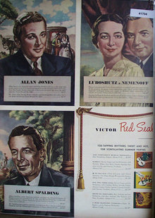 Victor Records 1943 Ad.