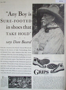 Grips Rubber Shoes 1929 Ad