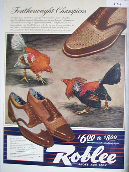Roblee Shoes For Men 1942 Ad