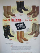 Acme Boots 1963 Ad.