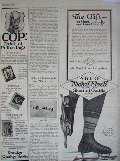 Arco Nickel Flash Skating Outfit 1927 Ad