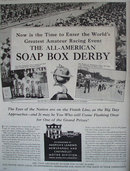 Soap Box Derby Chevrolet 1937 Ad.
