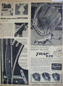 Rawlings Trap Eze Glove 1960 Ad