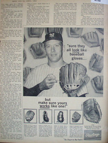 Rawlings Mickey Mantle Glove 1962 Ad