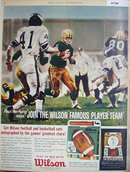 Wilson Sporting Goods Football 1962 Ad.