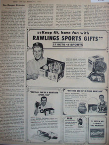 Rawlings Sports Gifts 1964 Ad