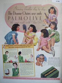 Palmolive Soap Dionne Quins 1937 Ad
