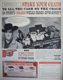 Ivory soap Wells Fargo Give Away 11960 Ad.