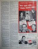 Pepsi Cola Leonard Lyons 1949 Ad.