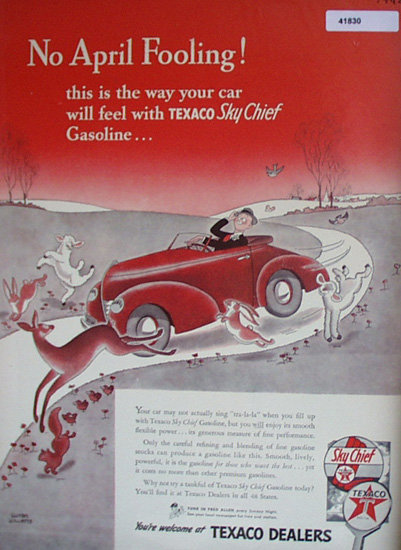 Texaco No April Fooling 1942 Ad.