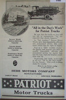 Patriot Trucks Revere Lincoln And Washington Models 1920 Ad