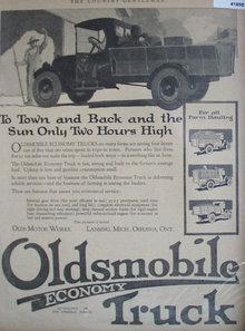 Oldsmobile Economy Truck 1920 Ad