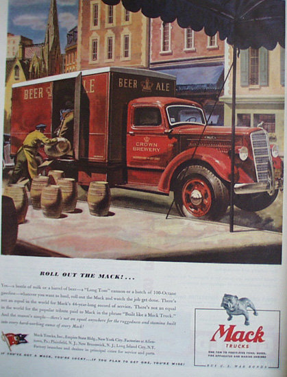 Mack Trucks 1944 Ad.