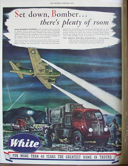 White Greatest Name In Trucks 1943 Ad.
