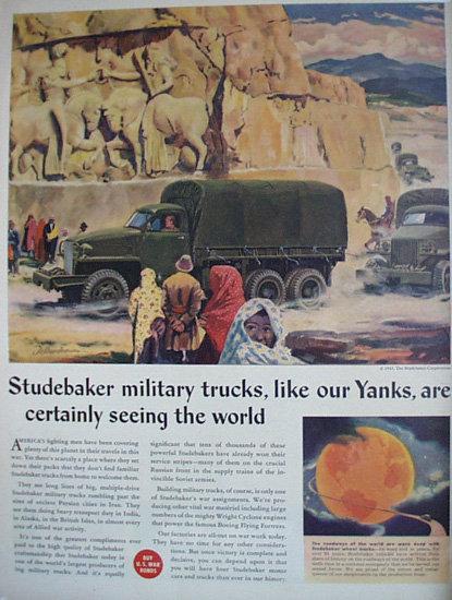 Studebaker Military Trucks 1943 Ad.