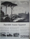 Dodge Trucks And Sperry Gyrocompass 1943 Ad.